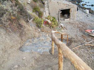 46 - Milazzo - La nuova scalinata che scende sino alla Tonnarella.